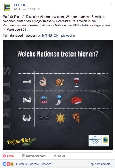 Social Media Text Edeka Olympiade