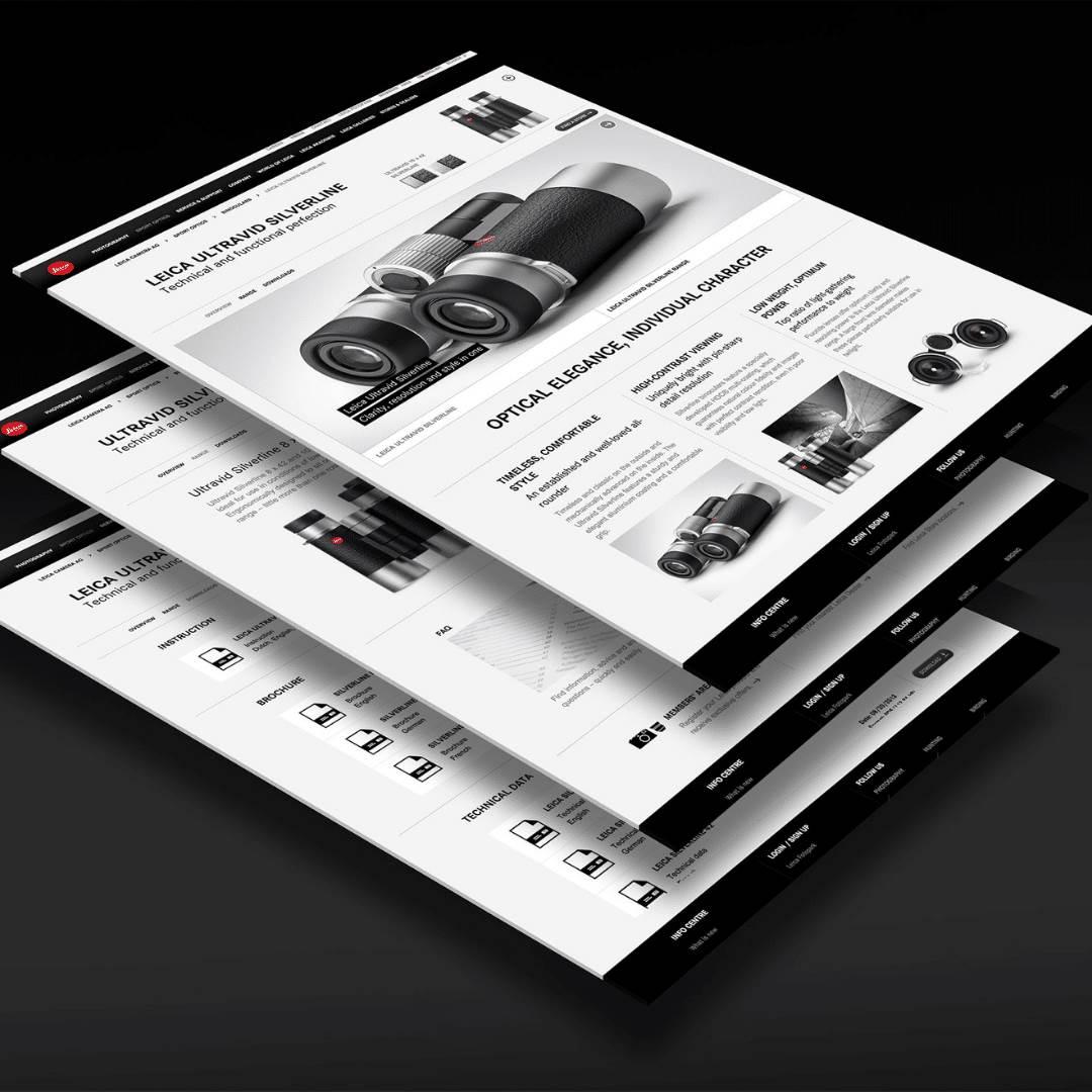 Website-Text und Konzept Leica